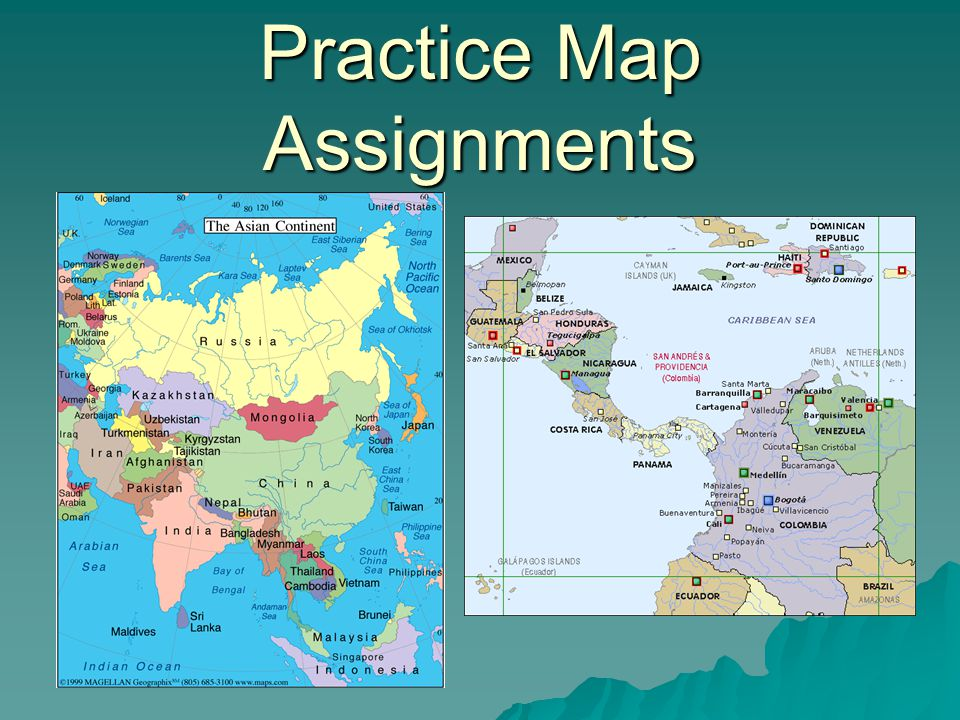 Practice Map Assignments
