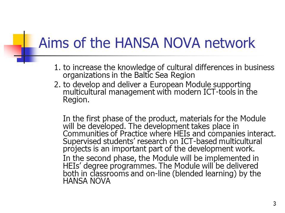 Aims of the HANSA NOVA network