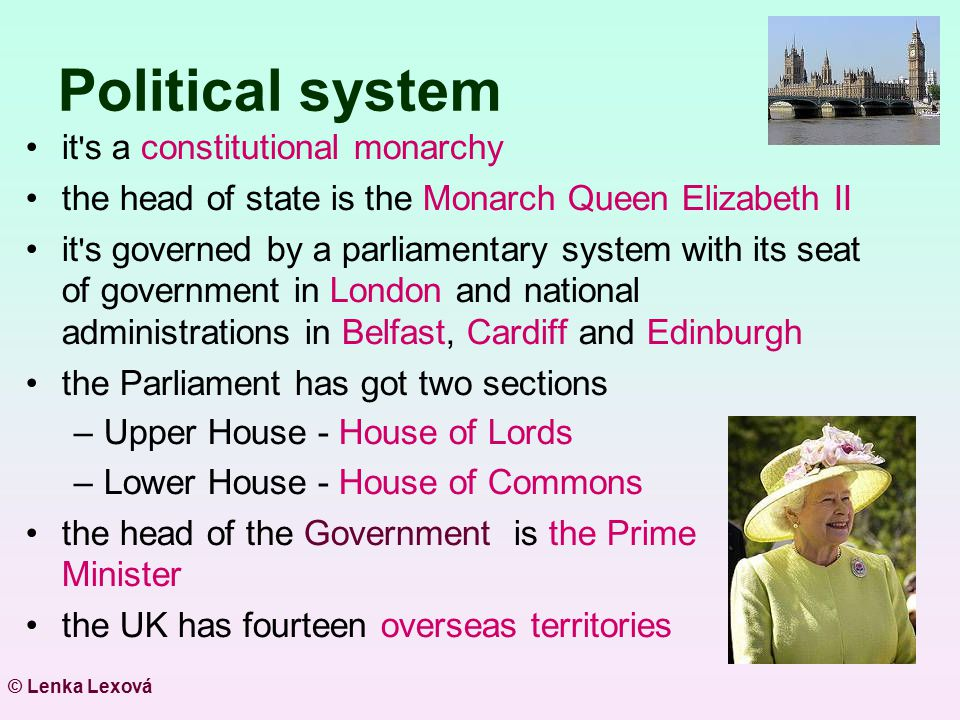 Political system it s a constitutional monarchy