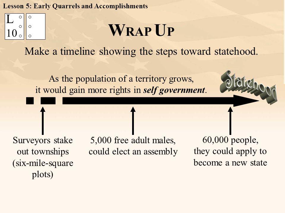 Lesson 5: Early Quarrels and Accomplishments