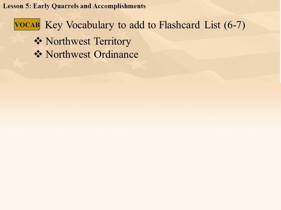 Key Vocabulary to add to Flashcard List (6-7)