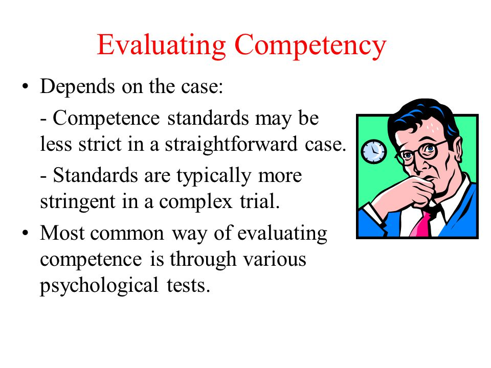 Evaluating Competency