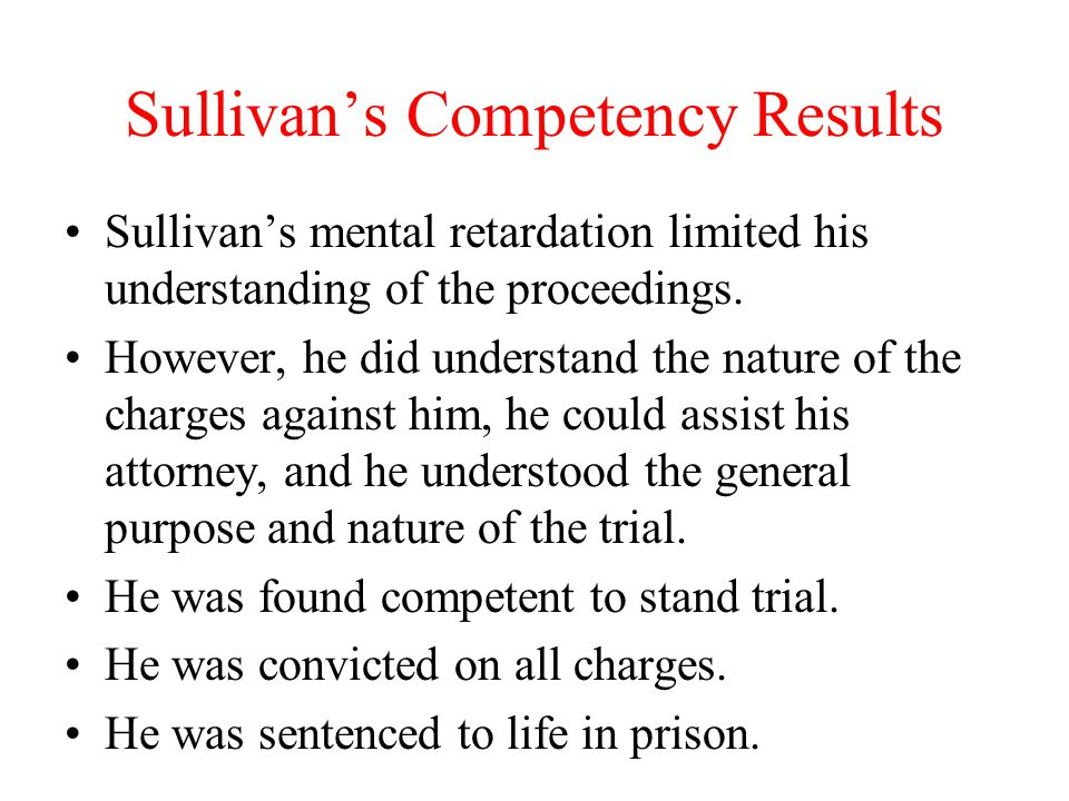 Sullivan's Competency Results