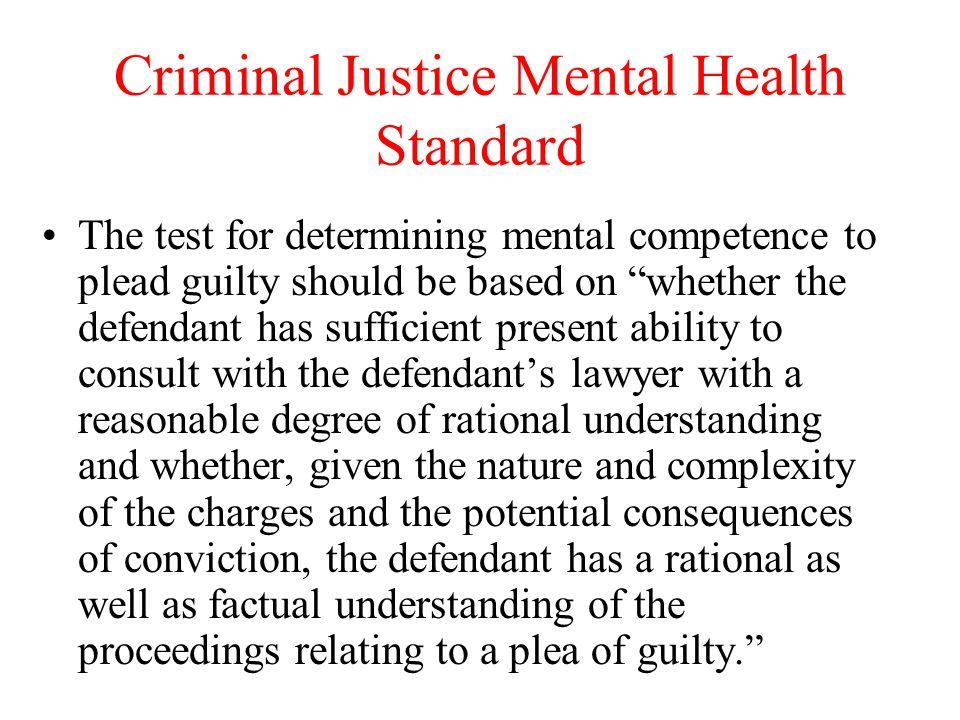 Criminal Justice Mental Health Standard