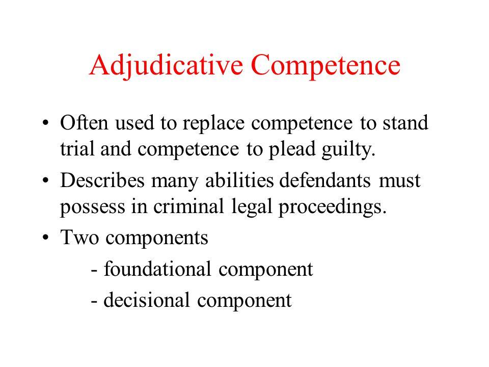 Adjudicative Competence