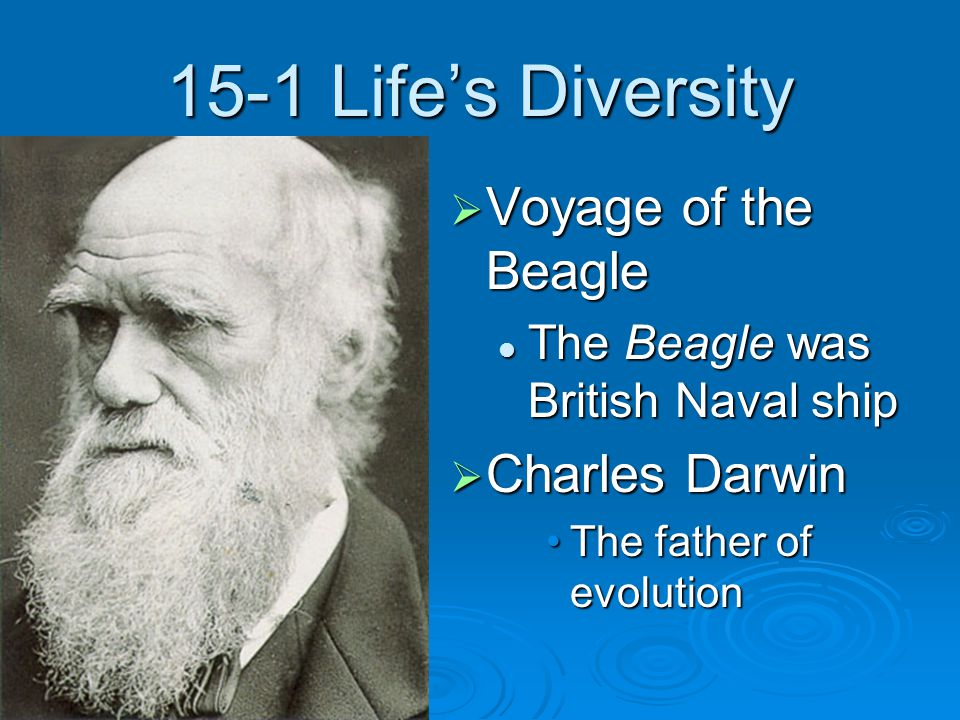 15-1 Life's Diversity Voyage of the Beagle Charles Darwin