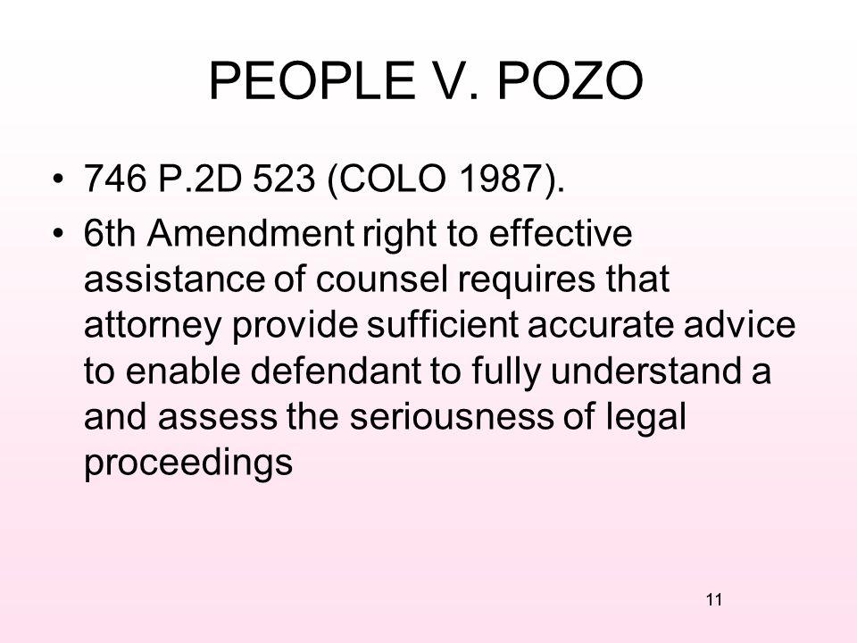 PEOPLE V. POZO 746 P.2D 523 (COLO 1987).