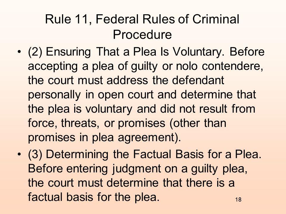 Rule 11, Federal Rules of Criminal Procedure