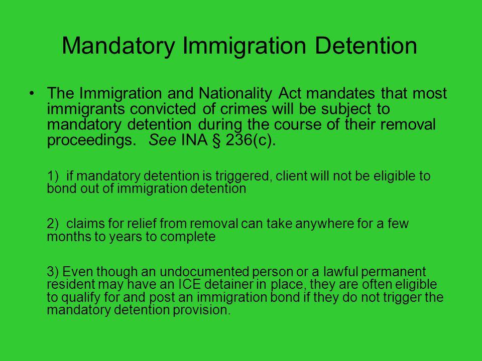Mandatory Immigration Detention