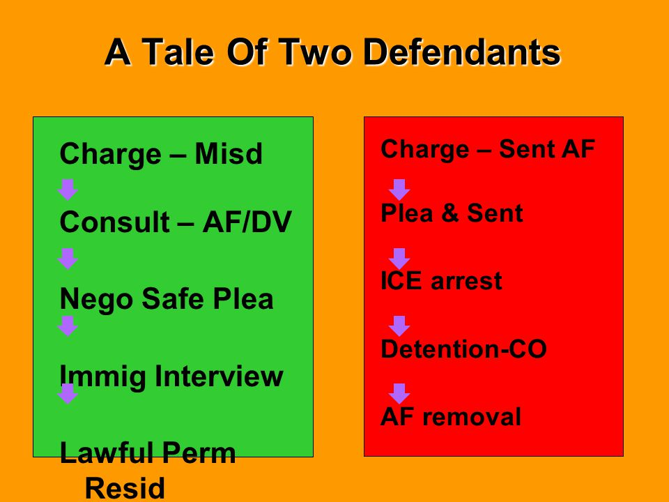 A Tale Of Two Defendants