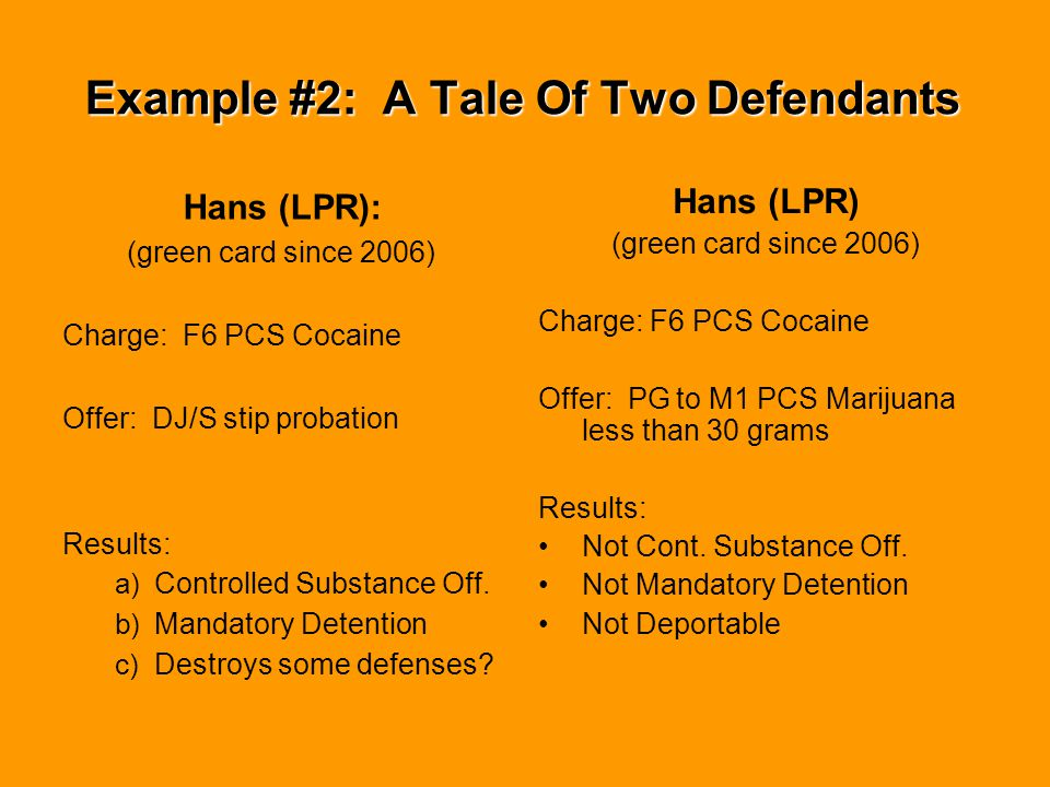 Example #2: A Tale Of Two Defendants