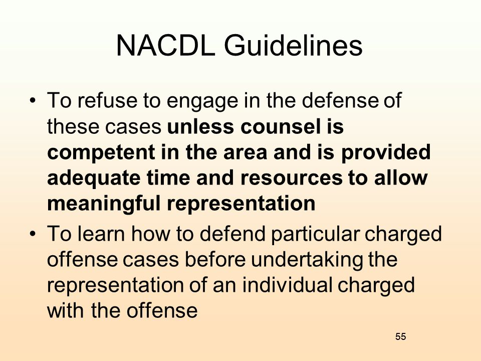 NACDL Guidelines