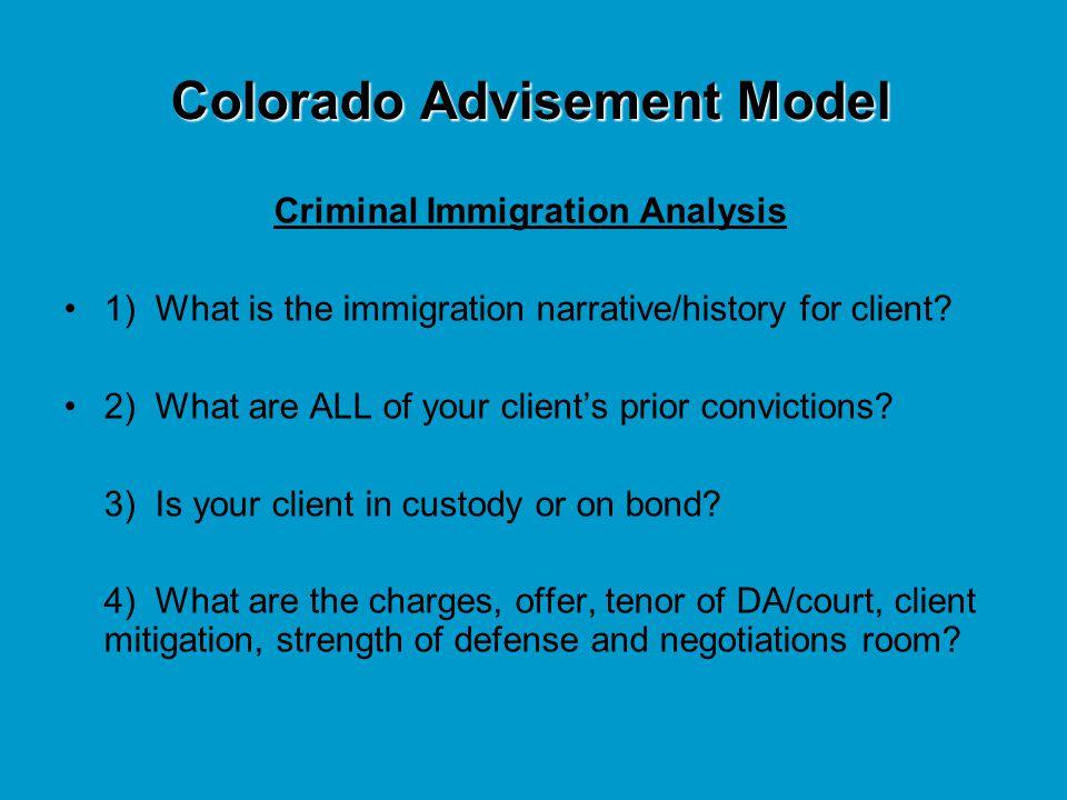 Colorado Advisement Model
