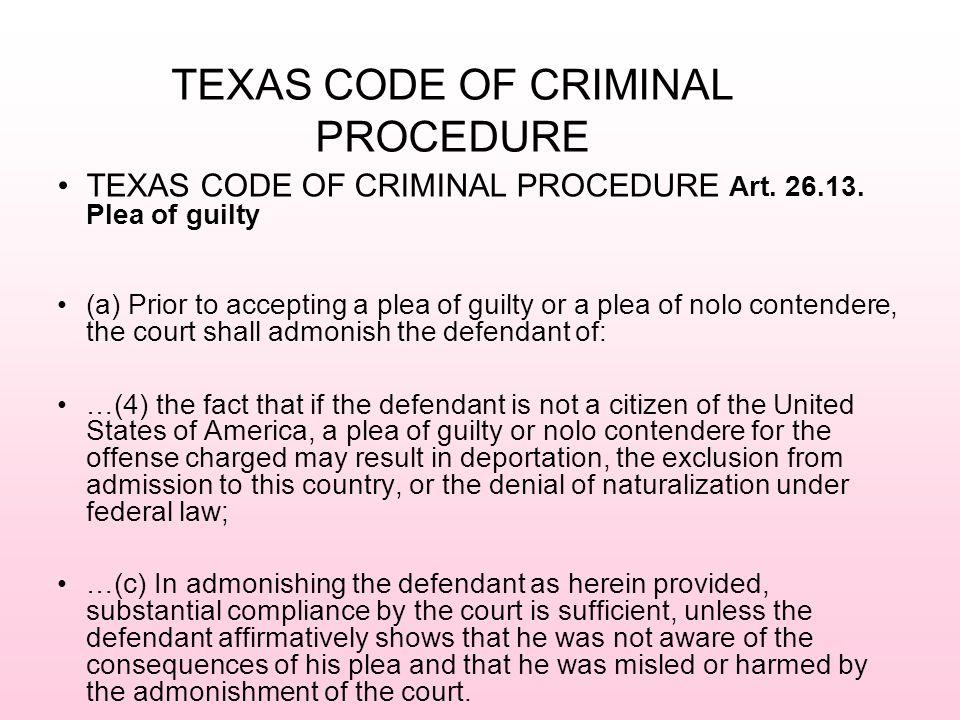 TEXAS CODE OF CRIMINAL PROCEDURE