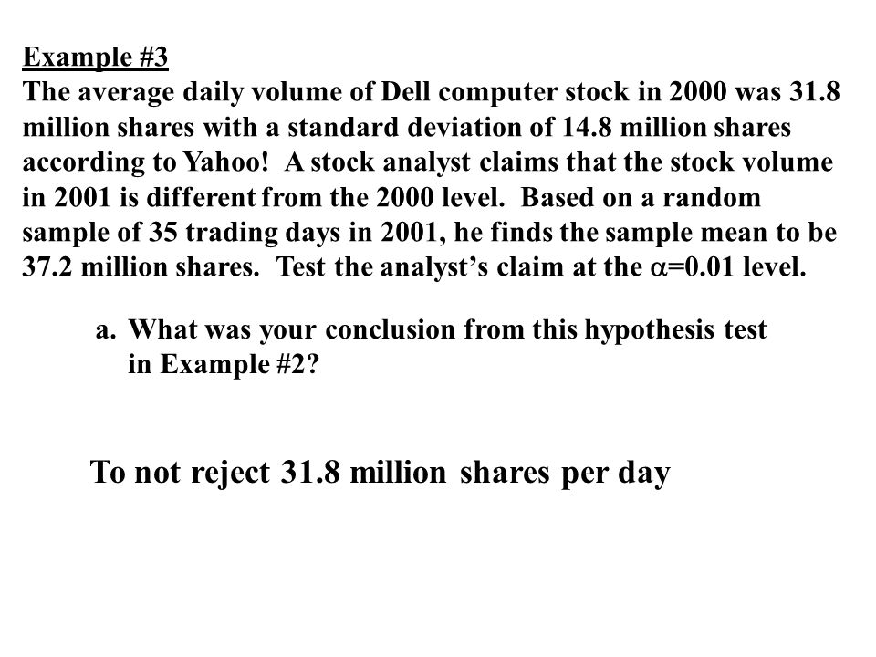 To not reject 31.8 million shares per day