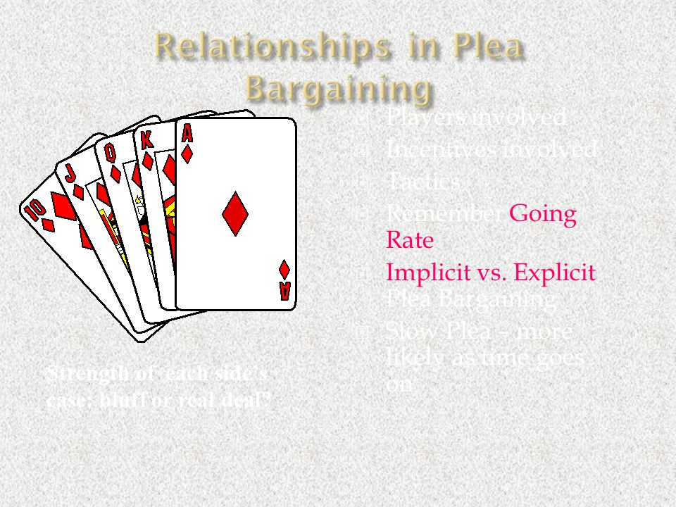 Relationships in Plea Bargaining