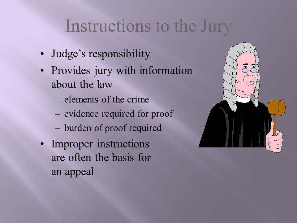 Instructions to the Jury