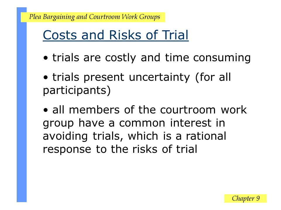Costs and Risks of Trial