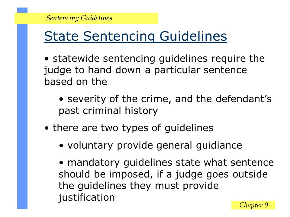 State Sentencing Guidelines