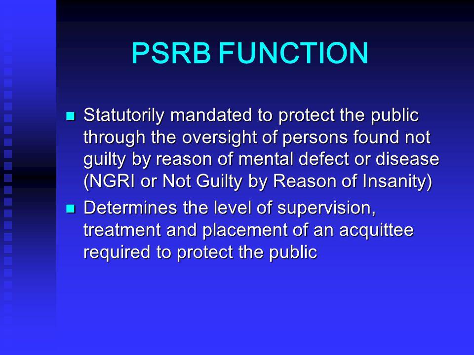 PSRB FUNCTION