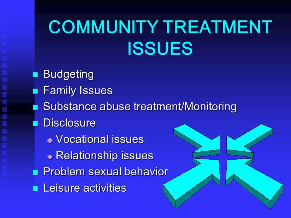 COMMUNITY TREATMENT ISSUES