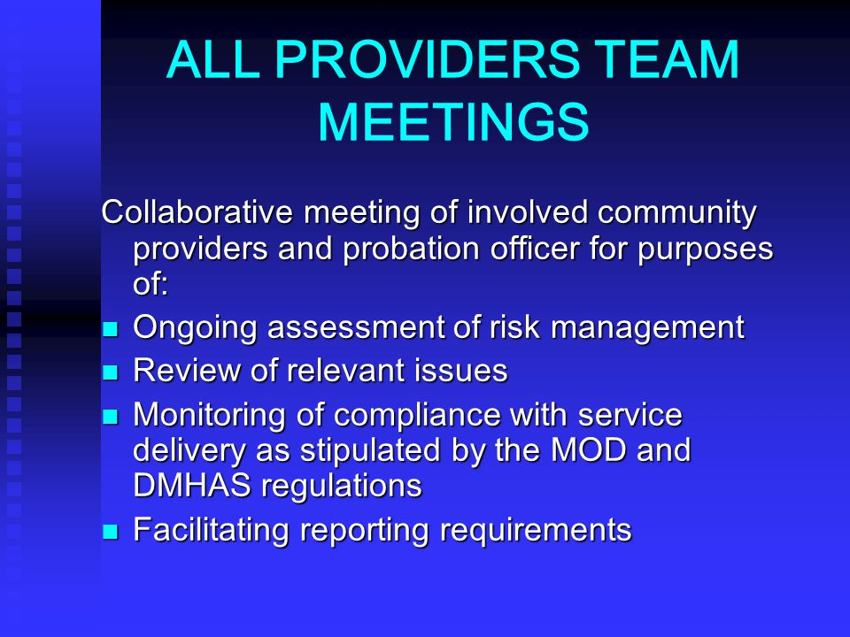 ALL PROVIDERS TEAM MEETINGS