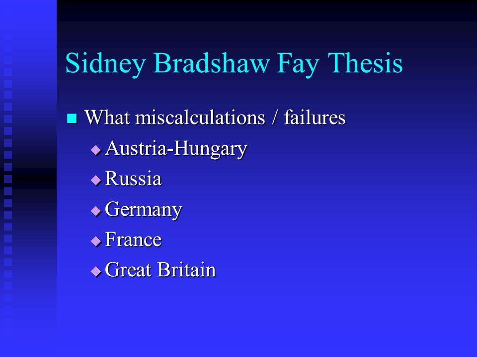 Sidney Bradshaw Fay Thesis