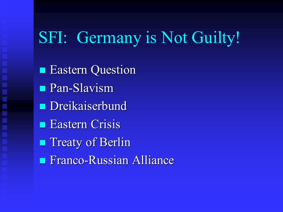 SFI: Germany is Not Guilty!
