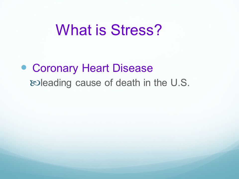 What is Stress Coronary Heart Disease