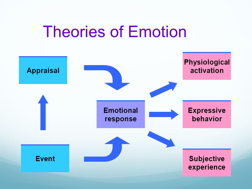 Theories of Emotion Appraisal Event Emotional response Physiological