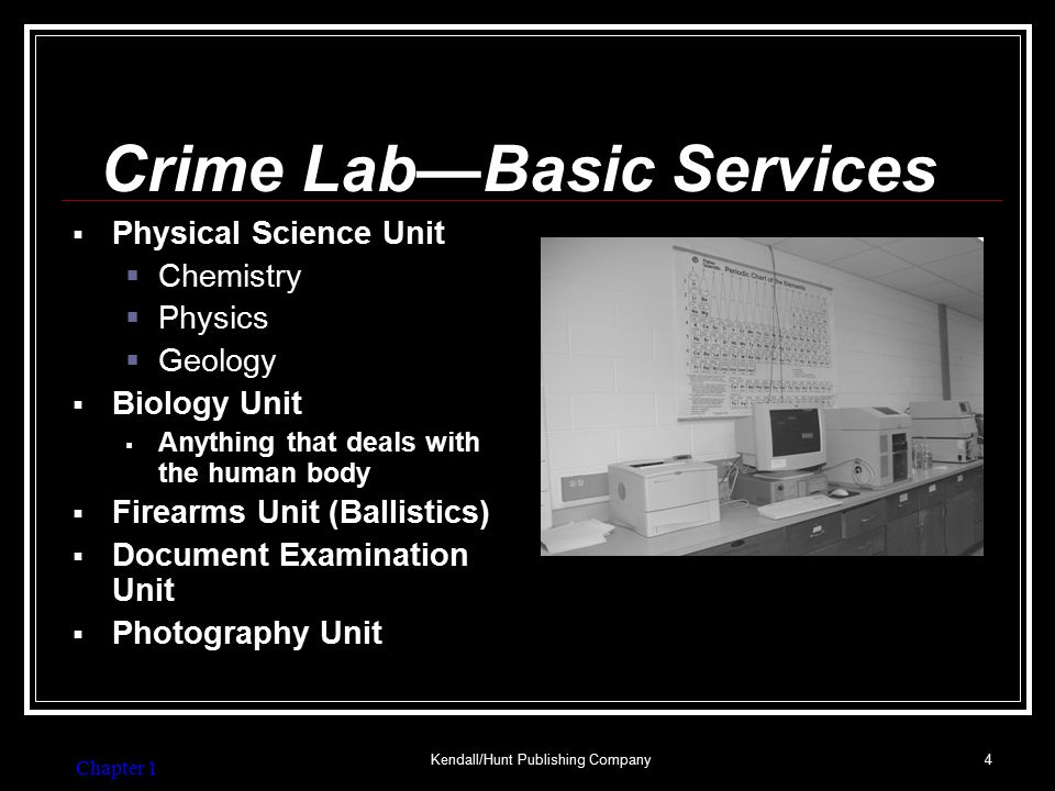 Crime Lab—Optional Services