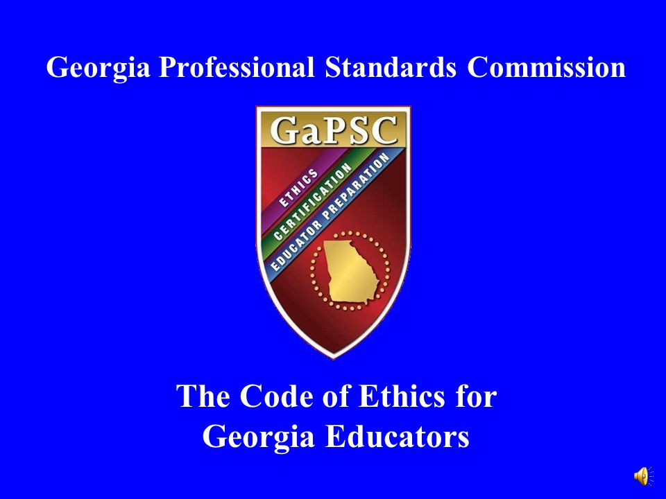 The Code of Ethics for Georgia Educators