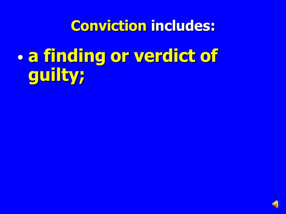 a finding or verdict of guilty;