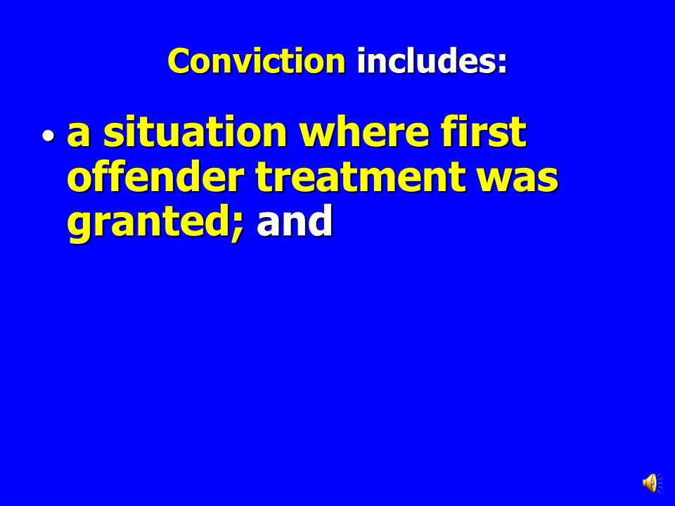 a situation where first offender treatment was granted; and