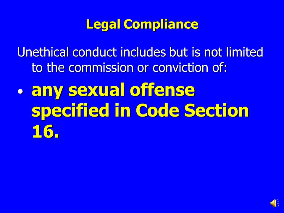 any sexual offense specified in Code Section 16.