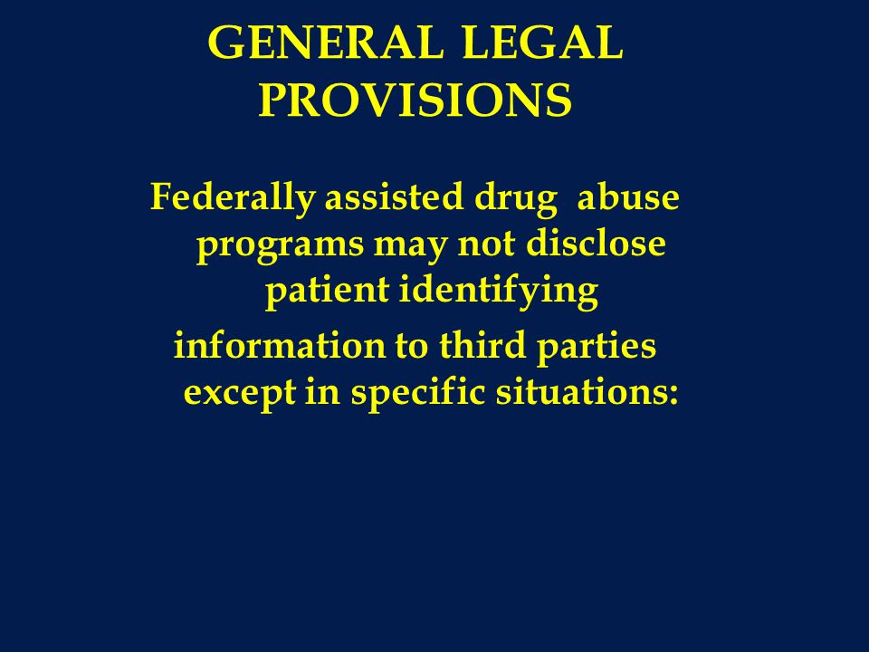 GENERAL LEGAL PROVISIONS