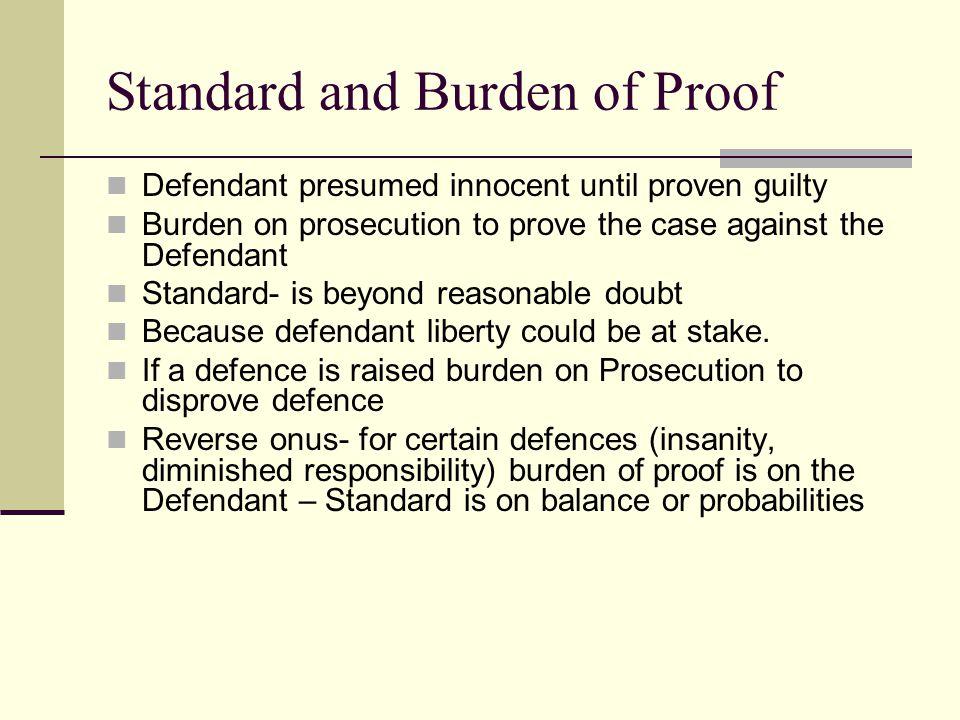Standard and Burden of Proof