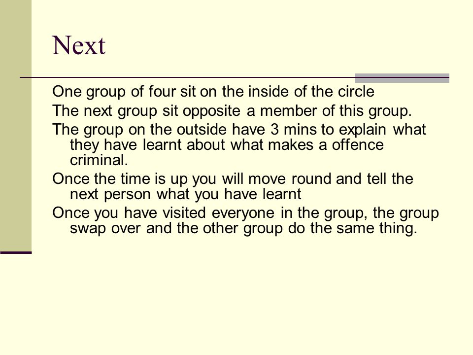 Next One group of four sit on the inside of the circle