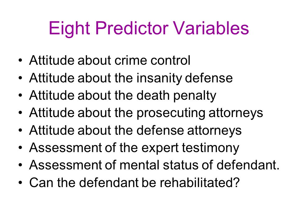 Eight Predictor Variables