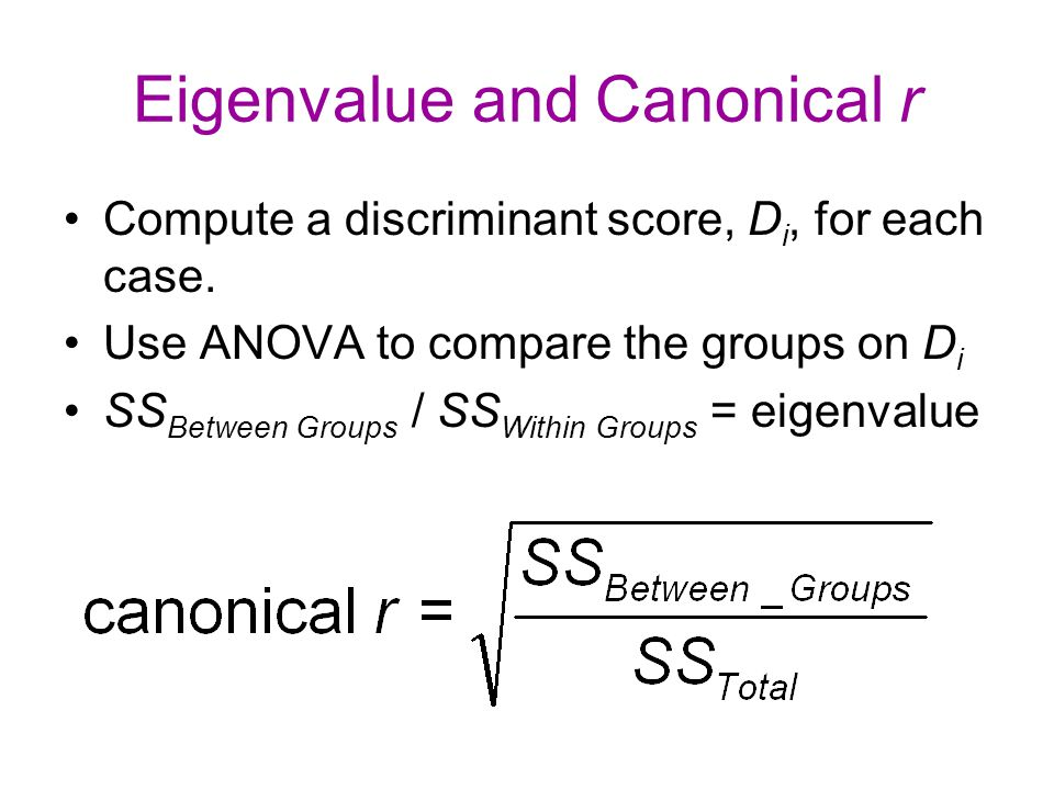 Eigenvalue and Canonical r
