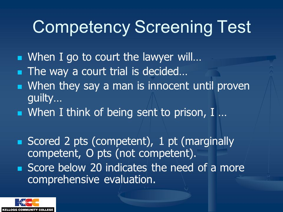 Competency Screening Test