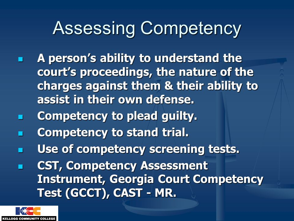 Assessing Competency