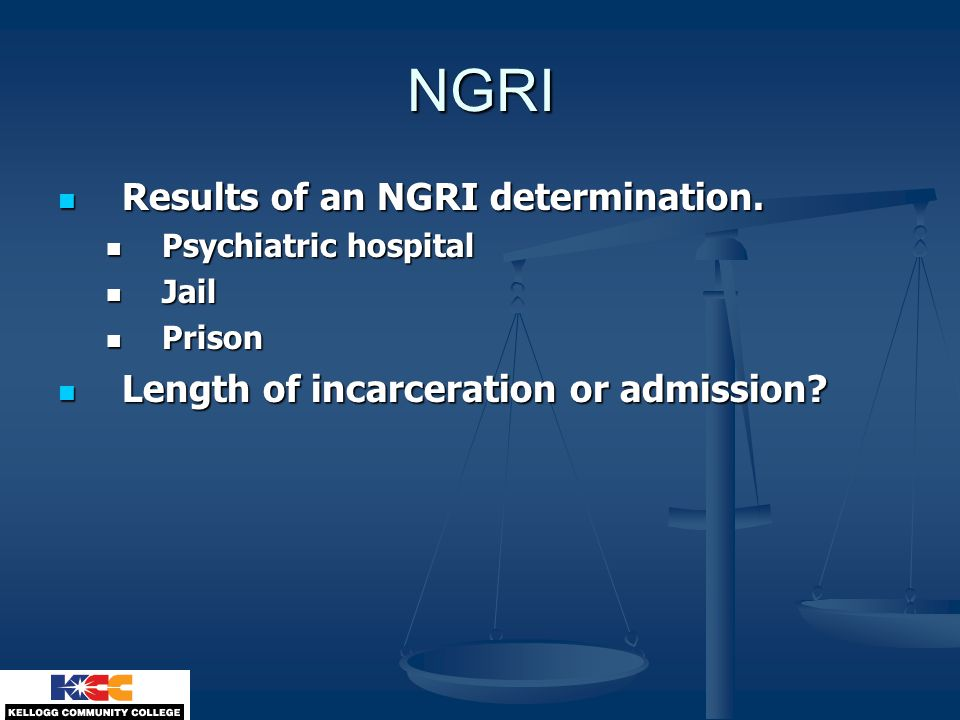 NGRI Results of an NGRI determination.