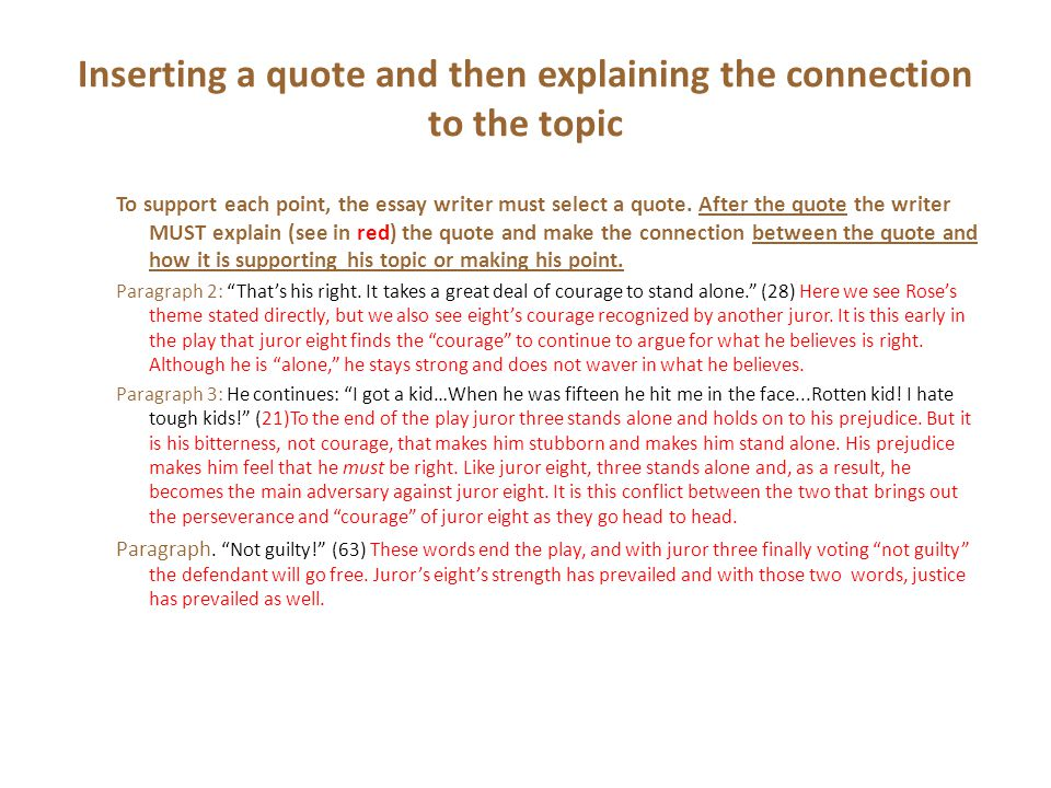 the introduction to your paper ppt video online  inserting a quote and then explaining the connection to the topic