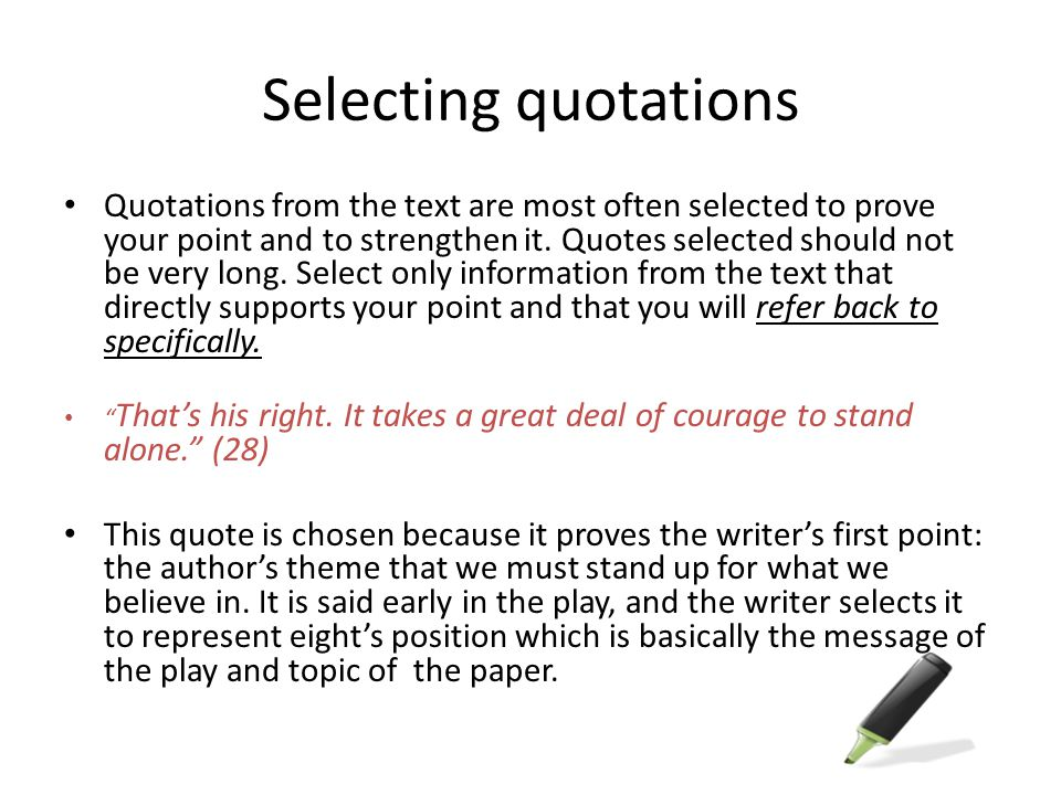 Selecting quotations