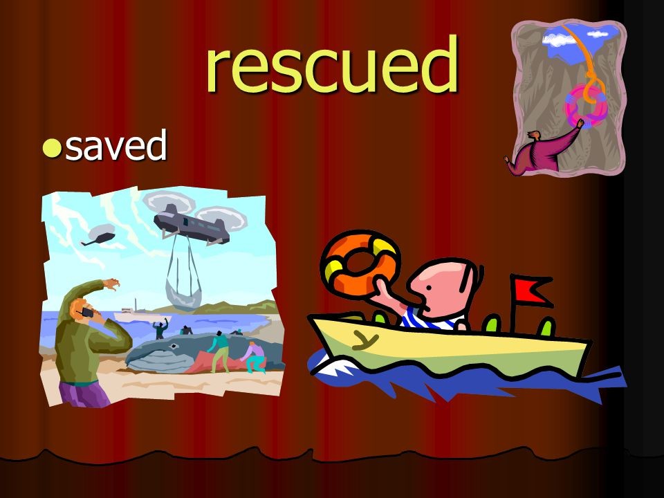 rescued saved