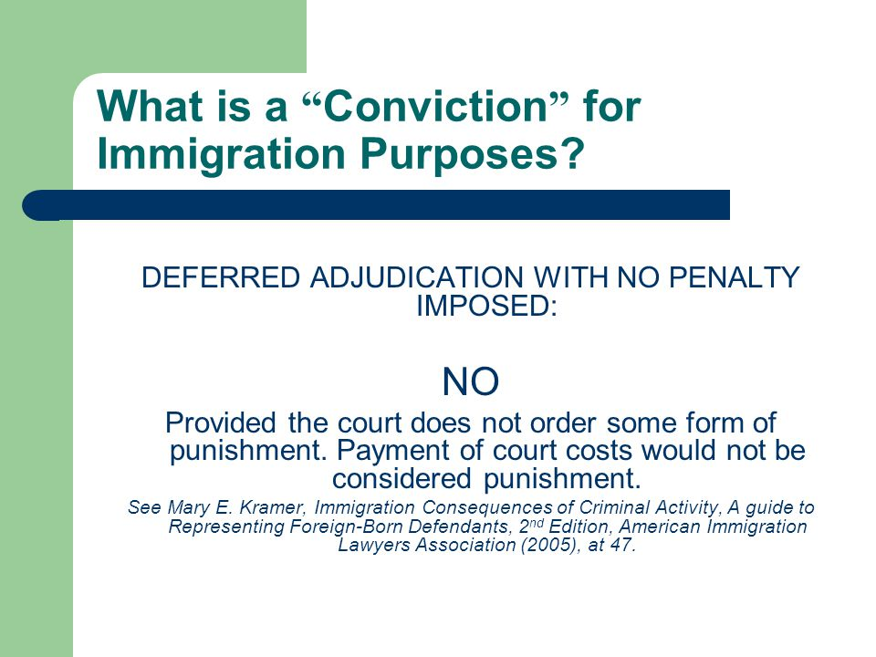What is a Conviction for Immigration Purposes