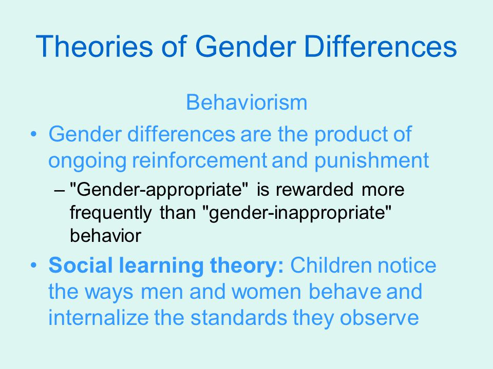 Theories of Gender Differences