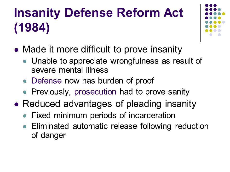 Insanity Defense Reform Act (1984)
