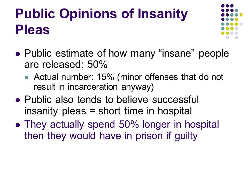 Public Opinions of Insanity Pleas